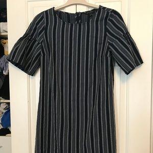 Banana Republic Butterfly Sleeve Striped Dress